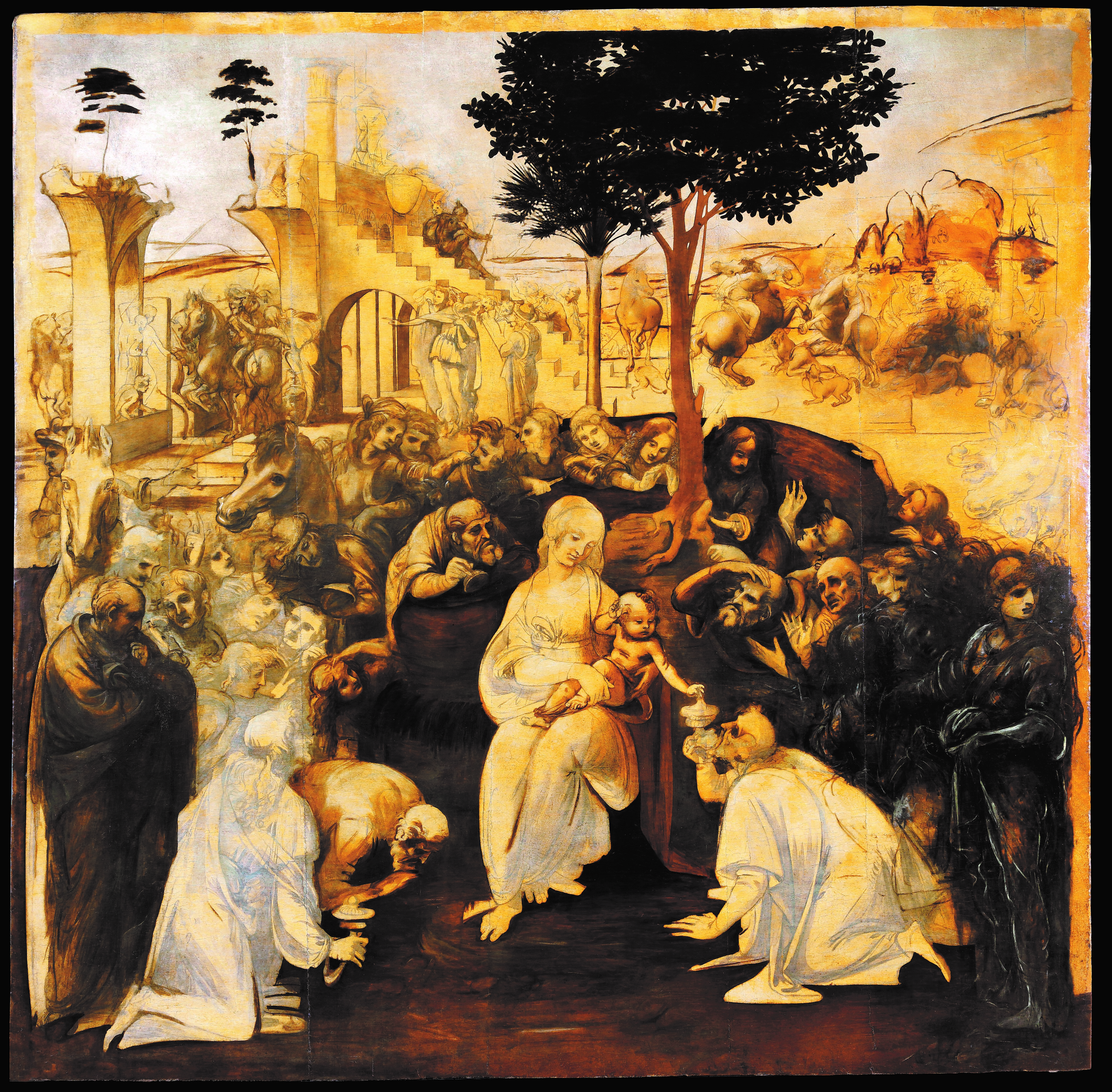 La Adoración De Los Magos De Leonardo Restaurada Se Exhibe En Florencia Arsmagazine