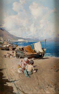 Baldomero Galofre. Playa de Sorrento, hacia 1872. Salida: 7.500 euros. Remate: 15.000 euros