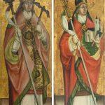 Escuela bávara o austriaca. Papa Clemente I y San Wolfgang de Regensburg. Salida: 5.000 euros. Remate: 8.000 y 7.500 euros, respectivamente