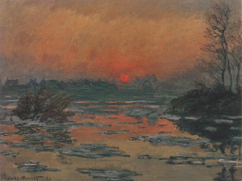 085.-Sunset-on-the-Seine-in-Winter-1880