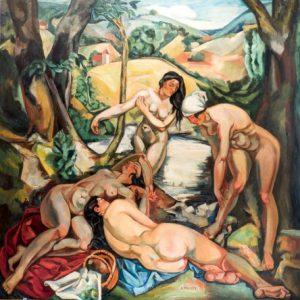 Andre Favory, Banistas, 1919. Salida: 1.800 euros. Remate: 6.000 euros