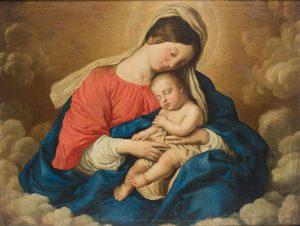 Círculo de Sassoferrato, Virgen con Niño. Salida: 3.500 euros. Remate: 22.500 euros