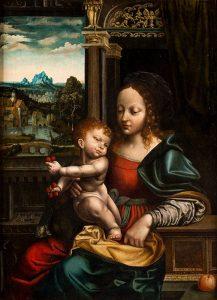 Cornelis van Cleve. Virgen con Niño. Salida: 40.000 euros