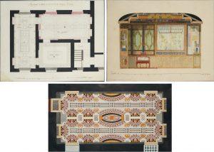 Jean-Démothène Dugourc. Tres diseños para la Casa de Campo del Escorial del Príncipe Nuestro Señor, 1786. Salida: 9.000, 18.000 y 18.000 euros