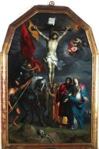 Escuela flamenca, siglo XVII. Crucifixión. Salida: 7.000 euros