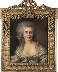 Johann Ernst Heinsius. Retrato de dama con vestido azul, 1783. Salida y remate: 5.000 euros