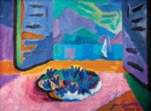 José Guerrero. Ventana sobre el lago de Thun, 1947. Salida: 3.750 euros. Remate: 18.000 euros