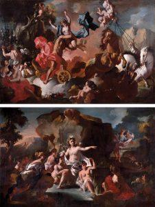 Lorenzo de Caro. Rapto de Proserpina y Diana y Acteón. Salida: 42.500 euros