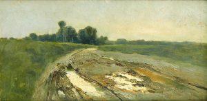 Ramón Casas. Paisaje, hacia 1880-1890. Salida: 12.000 euros. Remate: 22.500 euros