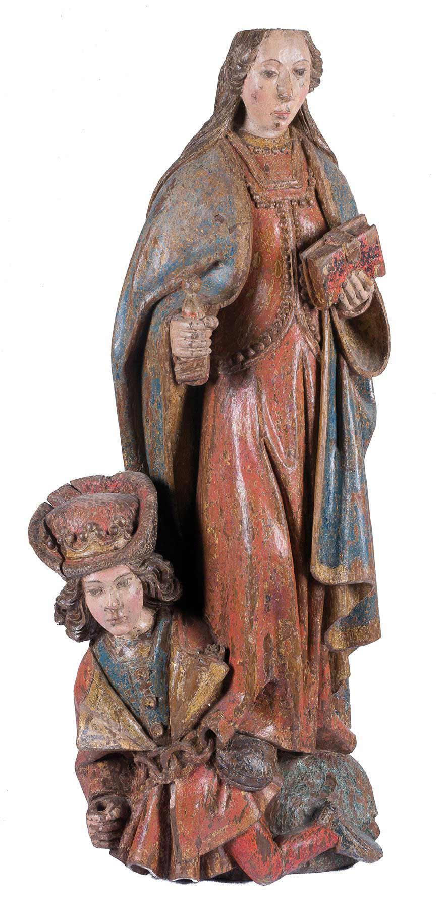 161-Santa-Catalina-de-Alejandría.-Escultura-en-madera-tallada-y-policromada.-Escuela-flamenca.-Gótico.-Siglo-XV.00a