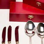 168 Cuberteria de la casa Cartier modelo La Maison de Louis Cartier en plata de su color y plata vermeille, contrastada, Ley 925.01
