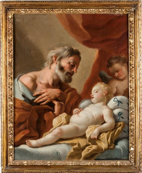 Escuela italiana siglo XVIII. San José con el Niño. Salida: 1.200 euros. Remate: 6.500 euros