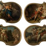 Felice Fischetti. Ercole e Onfale, Giove, Giunone e Io, Bacco e Ariadna y Atalanta e Ippomene. Salida: 4.000 euros