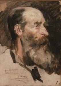Joaquín Sorolla. Estudio de cabeza de anciano con barba, c. 1888. Salida: 30.000 euros