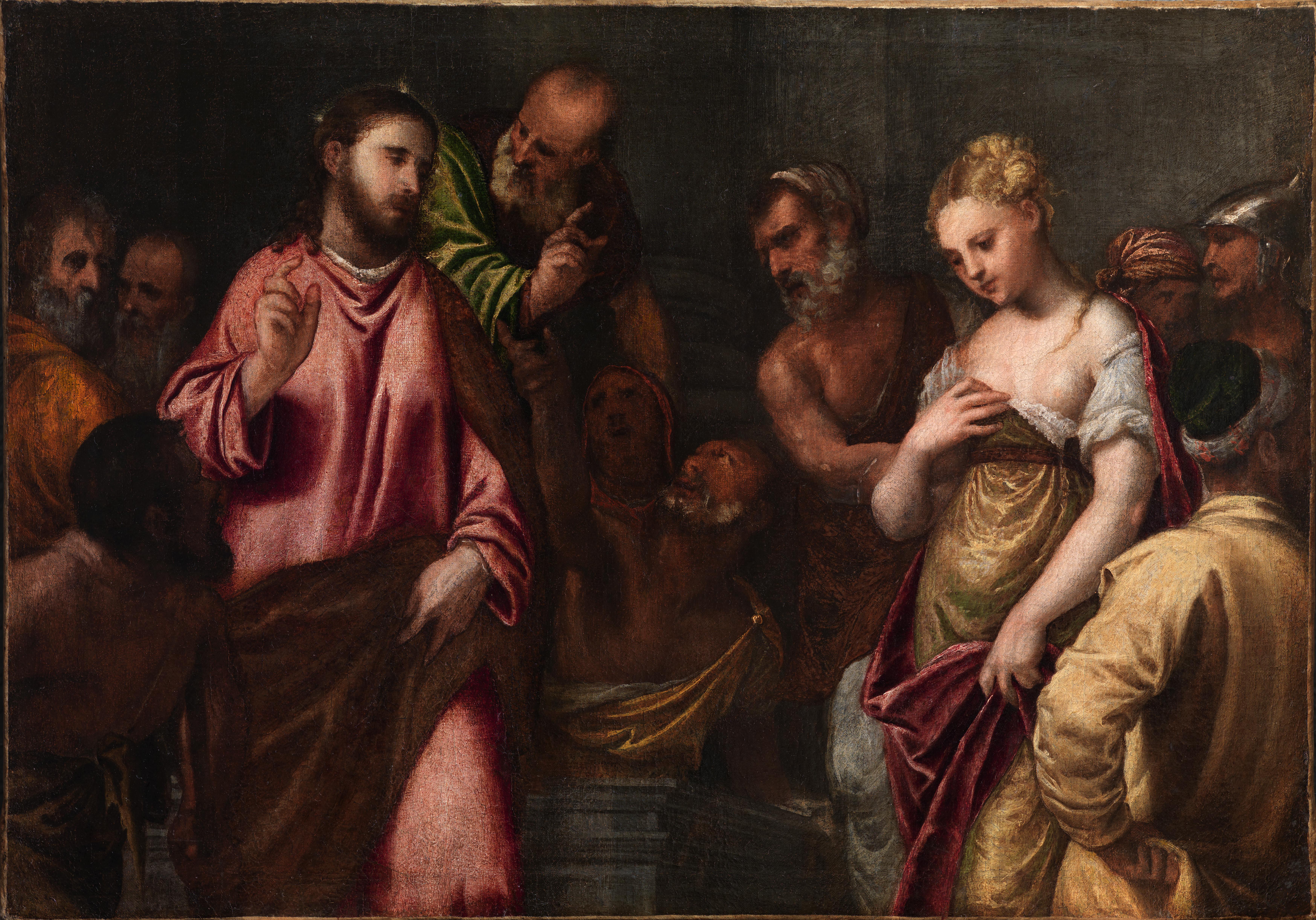 Polidoro da Lanciano_Cristo y la mujer adultera