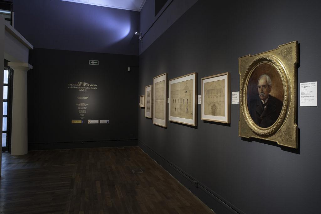 Sala-de-la-exposición-Dibujos-de-Arquitectura-y-Ornamentación