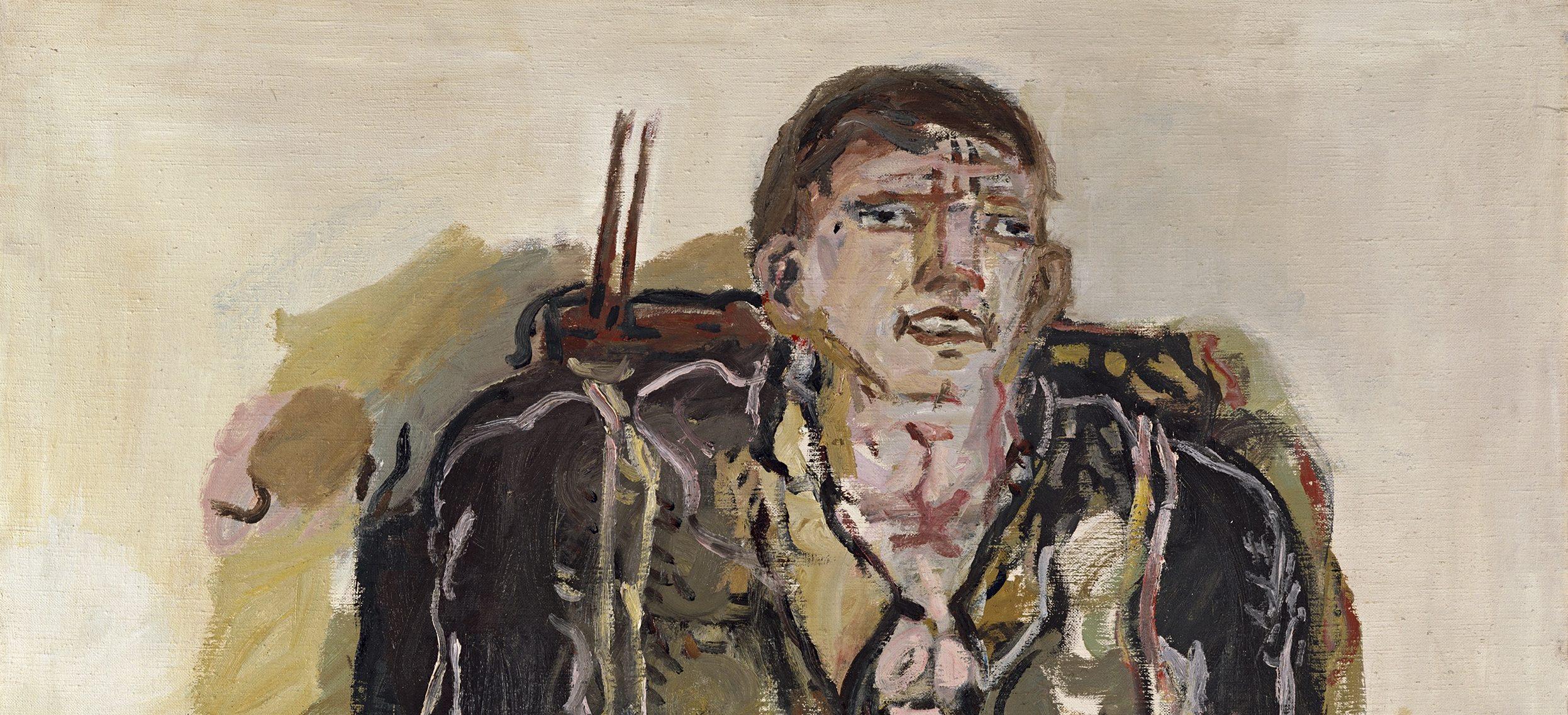 Georg Baselitz El pintor moderno (Der moderne Maler), 1965 Óleo sobre lienzo 162 x 130 cm Colección particular © Georg Baselitz, 2017 Foto: Frank Oleski, Colonia