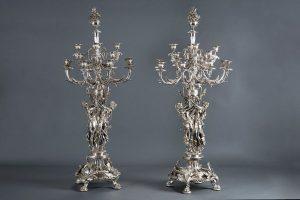 874-pareja-de-candelabros-de-16-luces-en-metal-plateado-S.-XIX.-00