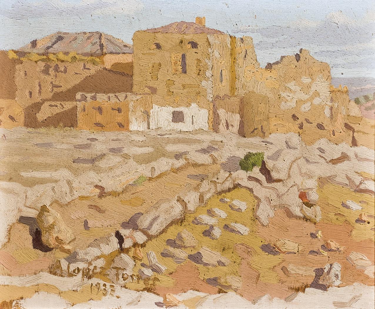 Antonio-Lopez-Torres-Paisaje-campestre-1933-1