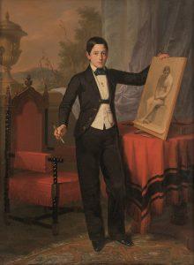 Antonio-Maria-Esquivel-Retrato-del-hijo-primogenito-de-don-Antonio-Hompanera-de-Cos-1852-Segre