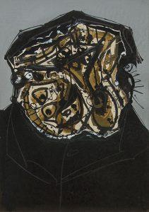Antonio-Saura-Retrato-de-Rembrandt-1967