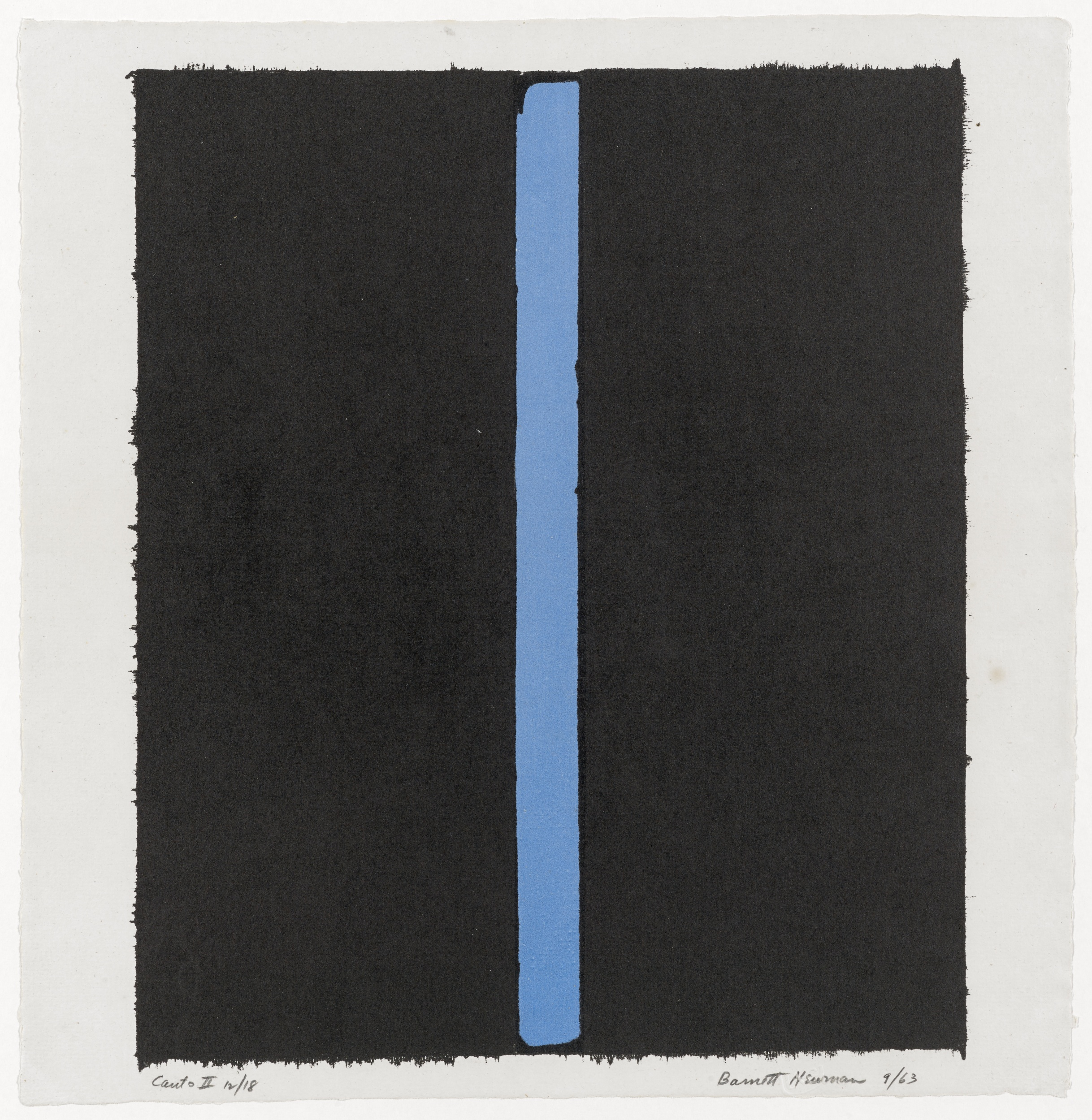Barnett Newman (1905–1970); Canto II; Sep-1963