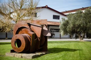 8/2/16 Anthony Caro sculptures at Bodegas CVNE, Haro, La Rioja, Spain. Photo by James Sturcke | www.sturcke.org