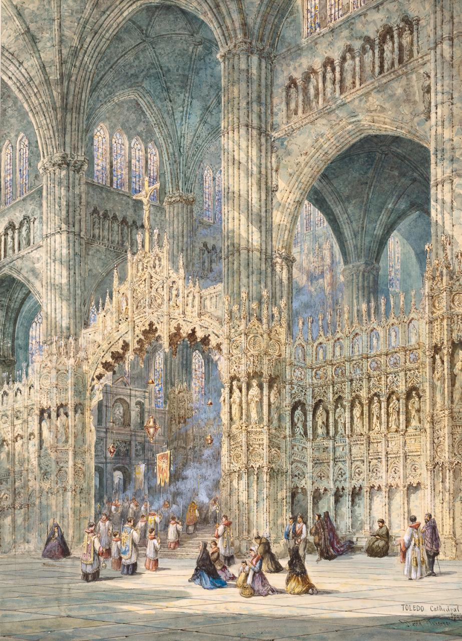 David-Roberts-Interior-catedral-de-Toledo