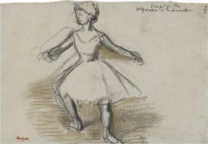 Edgar-Degas-Danseuse-Fusain-rCݧhaussCݧ-de-pastel-blanc-et-vert-Circa-1880-85-225x310mm-W.M-BRADY-Co