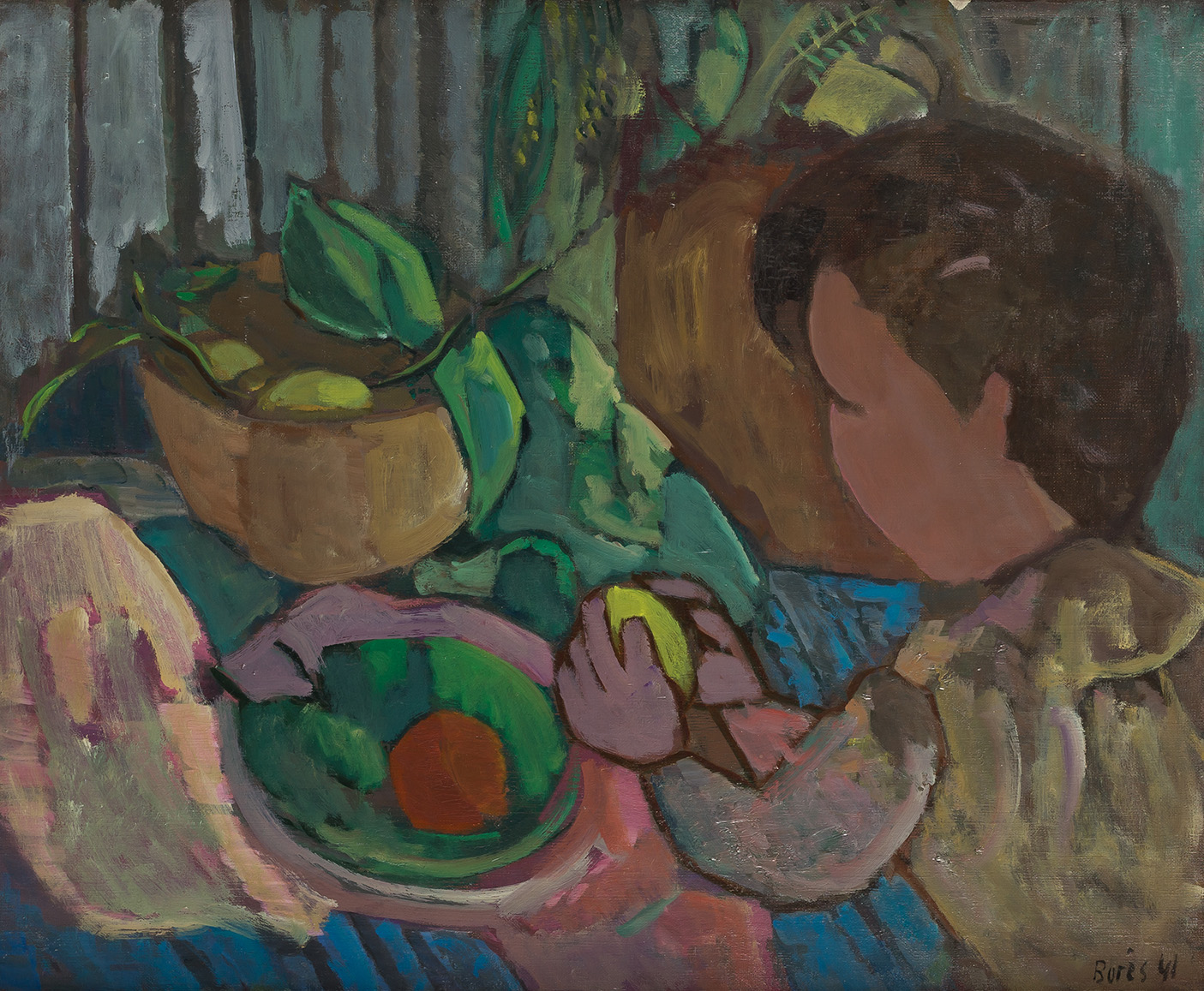 Francisco-Bores-Nino-con-un-limon-1941