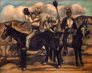 Jose-Solana-Mascaras-con-mulas-hacia-1932