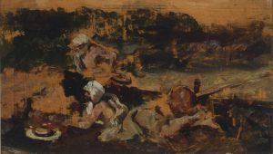 Mariano Fortuny. Boceto para El encantador de serpientes. Salida: 10.000 euros
