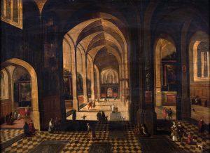 Pieter-Neefs-el-viejo-Interior-de-catedral-gotica