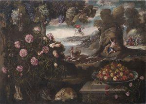 Tomas-Yepes-Paisaje-con-bodegon-de-frutas-y-el-mito-de-Perseo-y-Andromeda