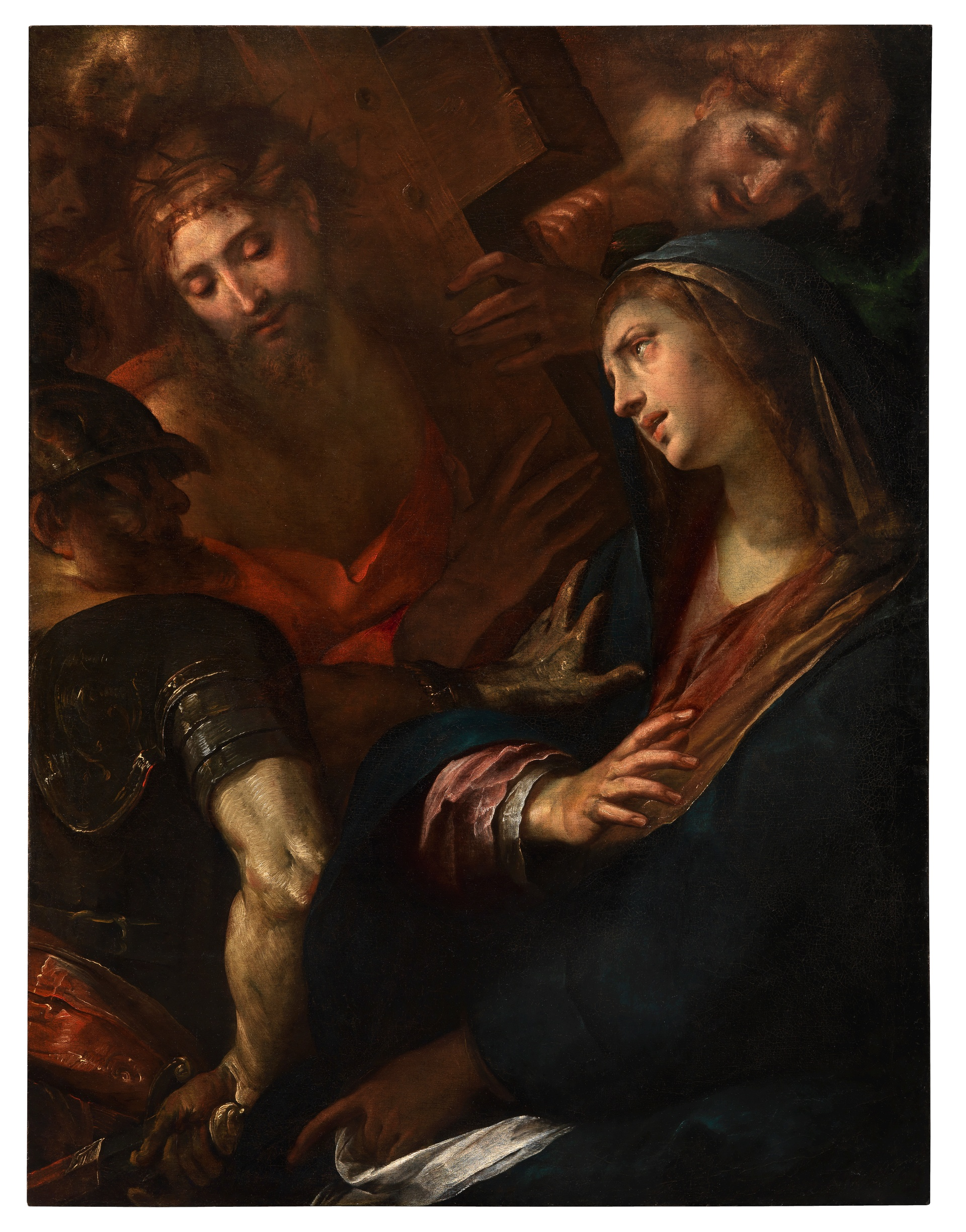 1242_Giulio-Cesare-Procaccini_Mary-and-Jesus-meet-on-the-road-to-Calvary_Oil-on-canvas_145.2-x-109-cm.-57¼-x-43-in._small