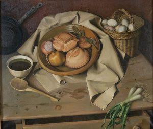 Antonio-Arjona-Bodegon-con-panes-y-cesta-de-huevos-c1949