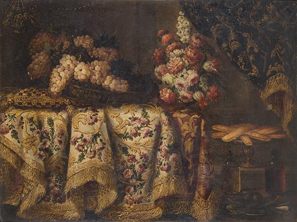 Antonio-Gianlisi-Bodegon-con-cesta-de-uvas-florero-y-dulces-1