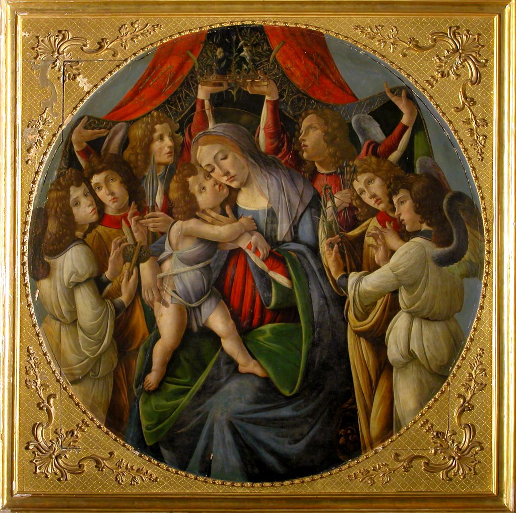 BOTTICELLI – Madonna col Bambino e sei Angeli