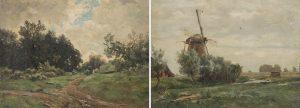 Carlos-de-Haes-Cercanias-del-castillo-de-Rustephan-Bretana-y-Molino-de-viento-Holanda