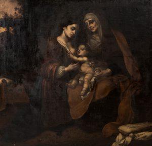 Escuela-andaluza-XVII-Virgen-con-Nino-y-santa-Ana