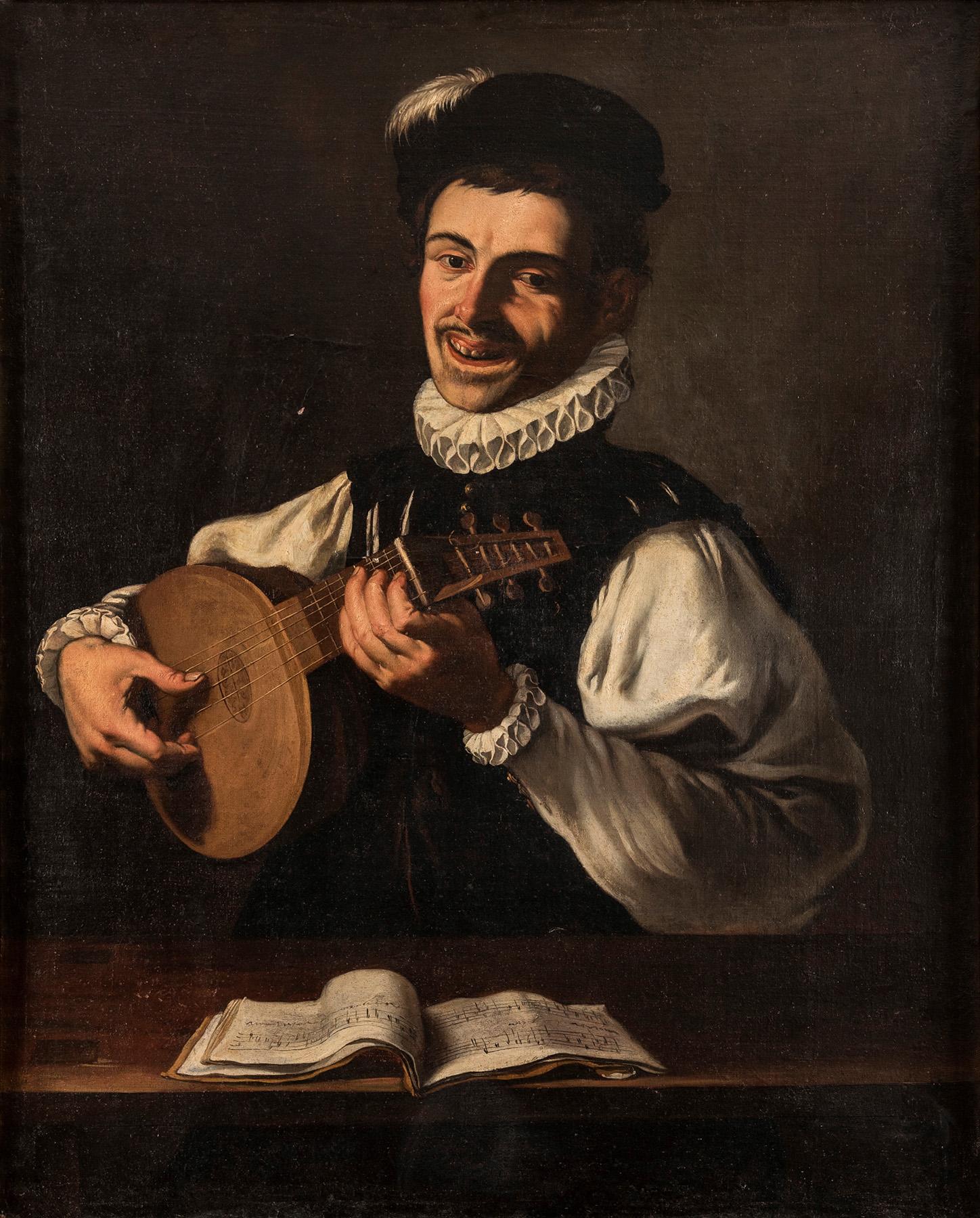 Escuela-esp-S.XVII-segun-Jose-de-Ribera-Trovador-con-laud-alegoria-del-oido