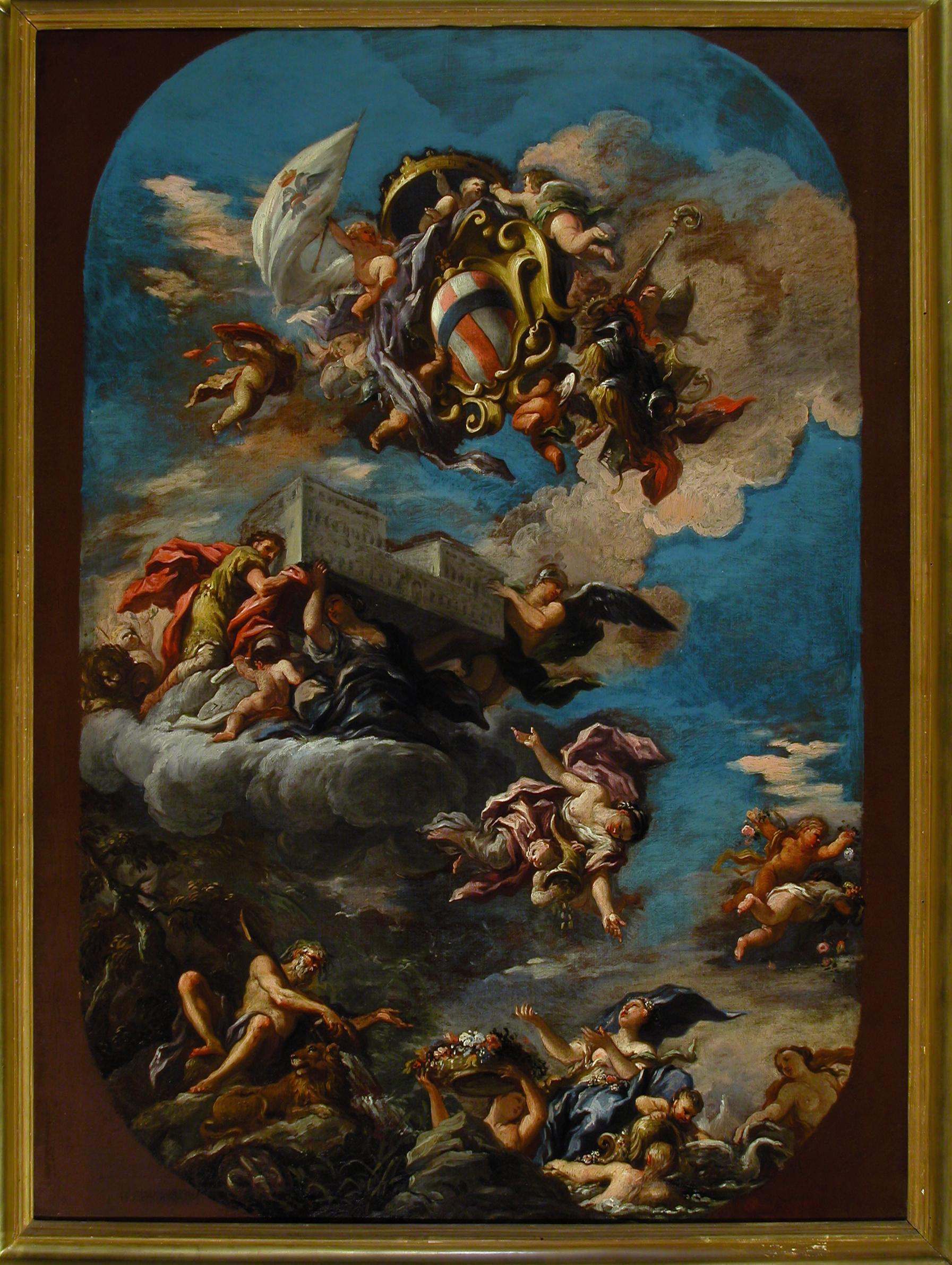 GABBIANI ANTON DOMENICO – Bozzetto per soffitto del salone del Trono