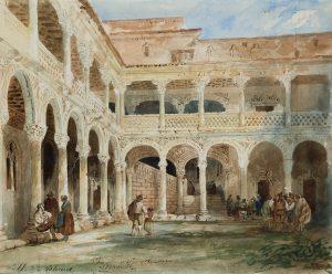 Jenaro-Perez-Villaamil-Vista-del-patio-del-Palacio-Arzobispal-de-Alcala-de-Henares-300×248