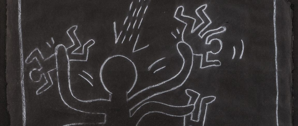 Keith Haring. Octopus Alien with UFO, 1983