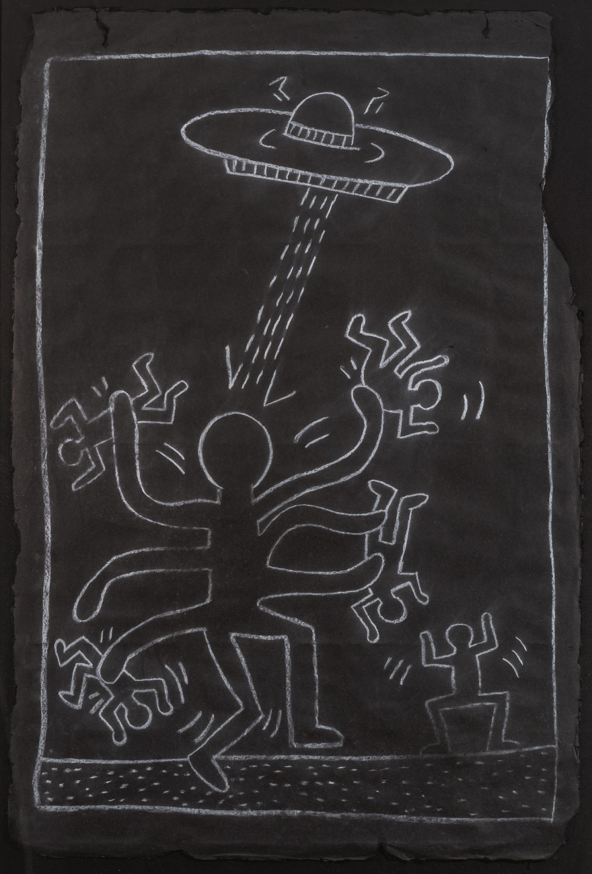 Keith Haring, Octopus Alien with UFO, 1983