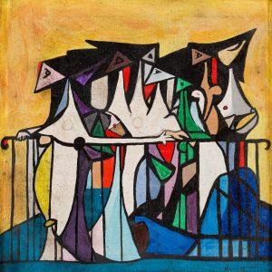 Oscar-Dominguez-Mujeres-en-el-balcon-c1947