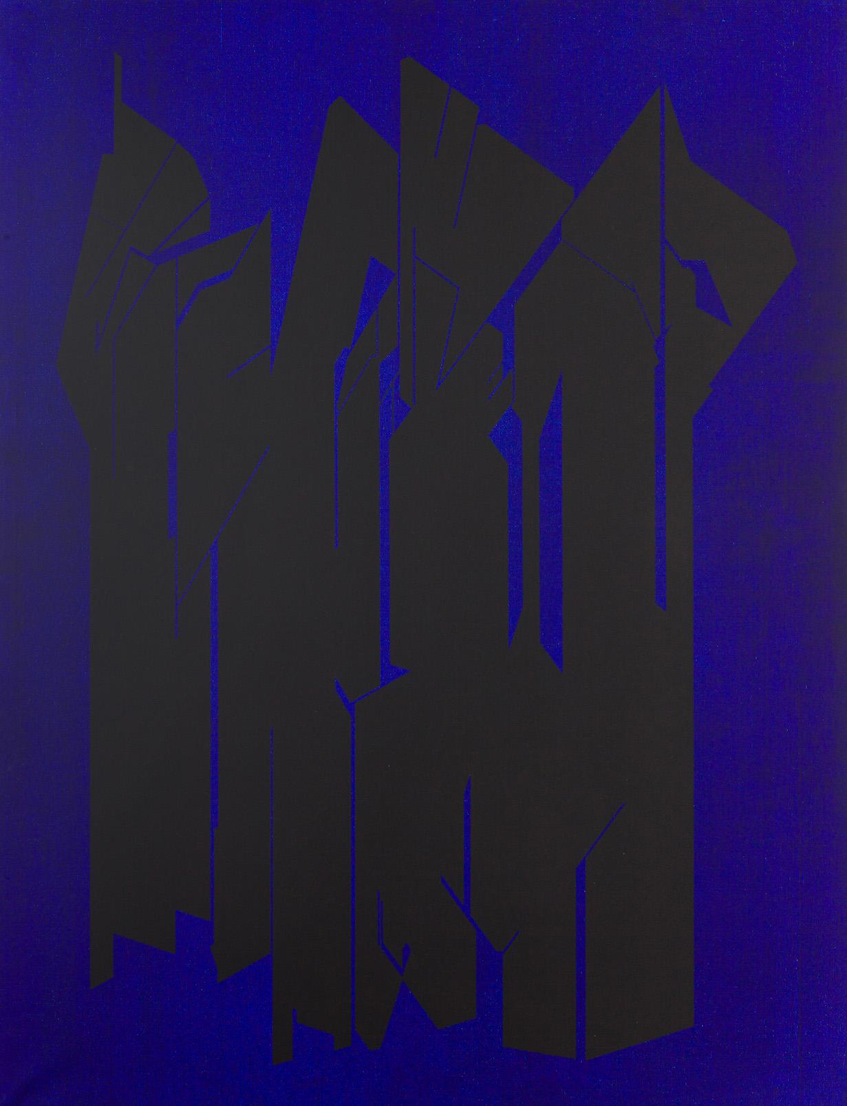 Pablo Palazuelo, De Somnis azul y negro, 2002