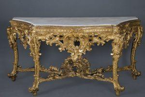 790-consola-española-en-madera-tallada-y-dorada,-época-Fernando-VII.-Finales-S.-XVIII