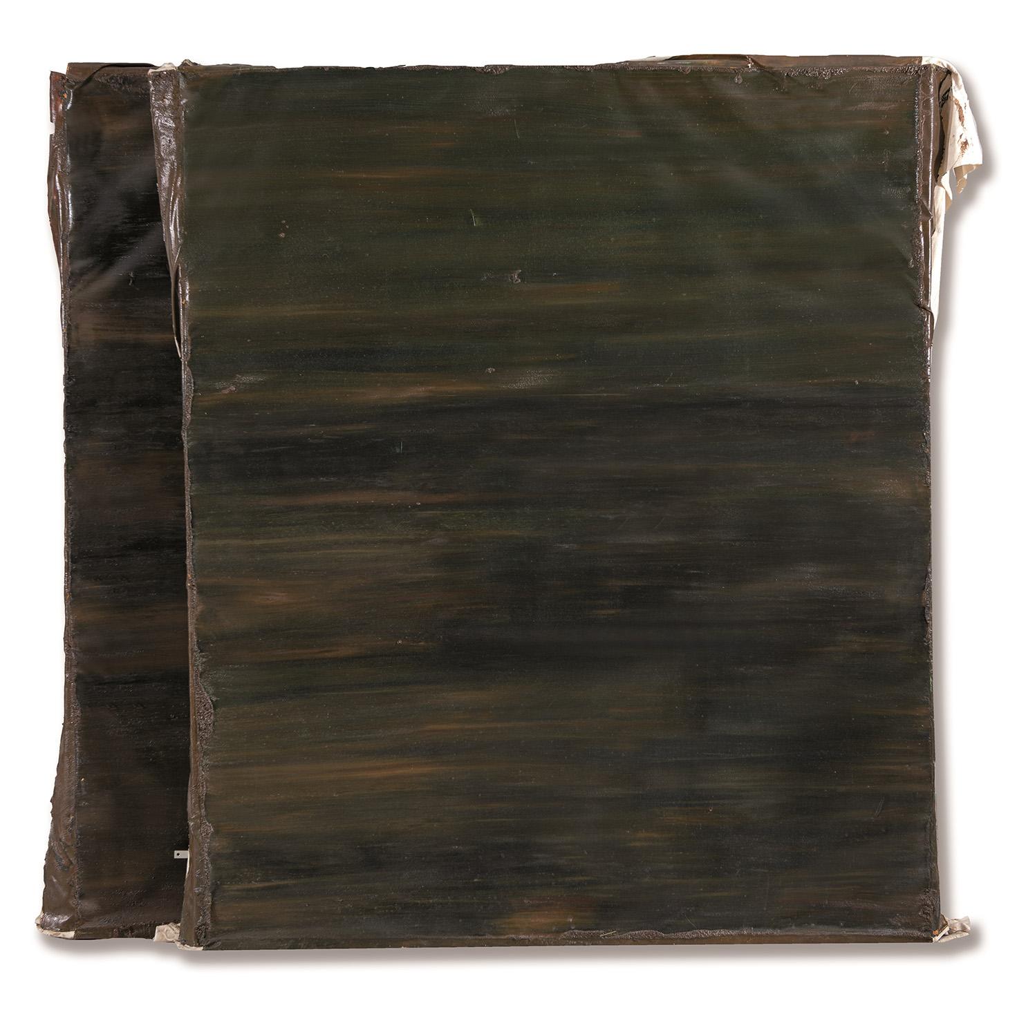 Ángela de la Cruz. Camouflage painting, 1998. Salida: 14.000 euros. Remate: 28.000 euros