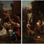 Escuela mexicana siglo XVII. Adoración de los Magos y de los Pastores. Salida y remate: 9.000 euros